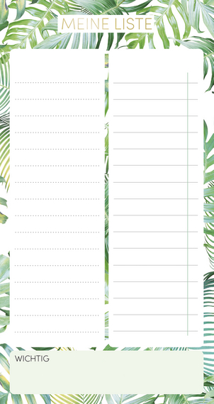 """Meine Liste """"Tropical Moments"""" TO-DO-Block 2022"""