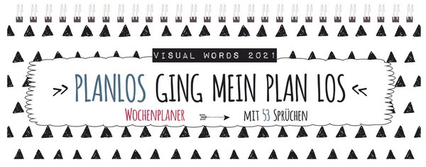 Tischquerkalender Visual Words 2021