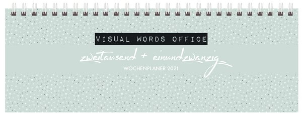 Tischquerkalender Visual Words Office 2021
